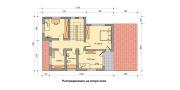 """ГОТОВ ПРОЕКТ НА КЪЩА """"МАРГАРЕТ"""" разпределение втори етаж"""