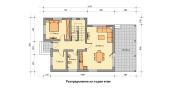 """ГОТОВ ПРОЕКТ НА КЪЩА """"МАРГАРЕТ"""" разпределение първи етаж"""
